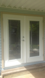 Rip out that old patio slider and have Doors Galore install a set of insulated steel french doors with built in mini blinds inside of the glass. & Doors Galore | pezcame.com