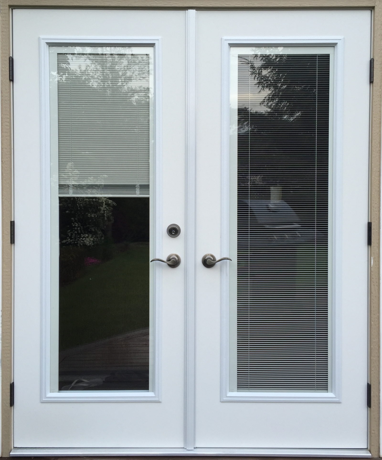 Photos Of Exterior French Doors With Mini Blinds